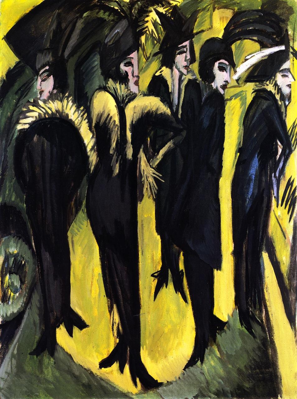 Ernst Ludwig Kirchner. Five women on the street