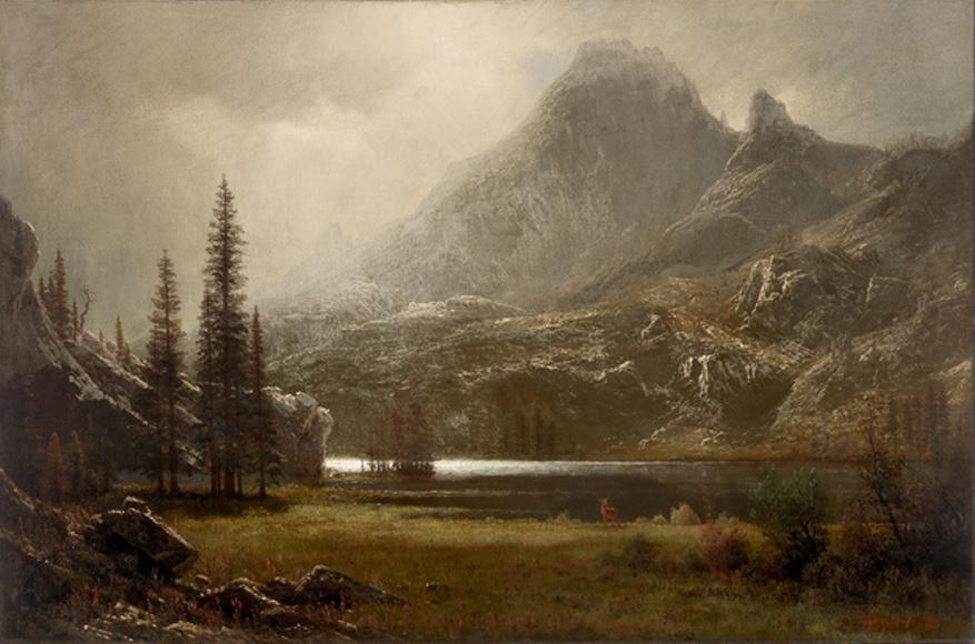 Альберт Бирштадт. Горное озеро в Гранд-Титоне