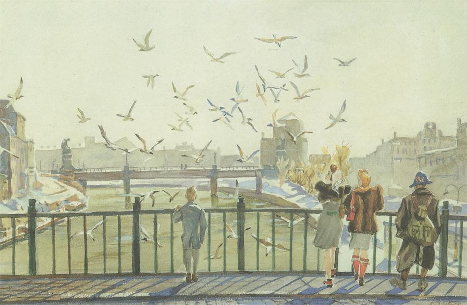 Александр Александрович Дейнека. Весна в Вене