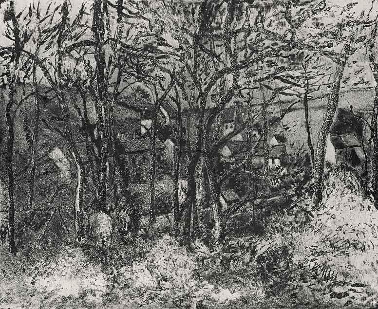 Камиль Писсарро. Лесной пейзаж в Понтуазе