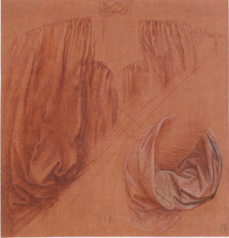 Leonardo da Vinci. Drapery studies