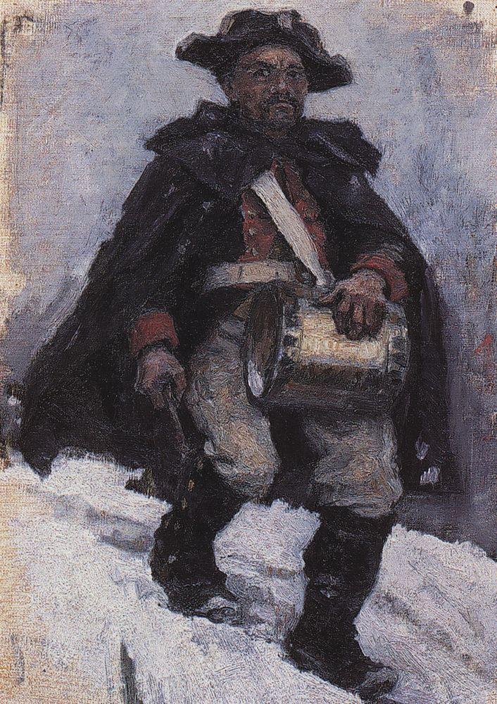Василий Иванович Суриков. Солдат с барабаном