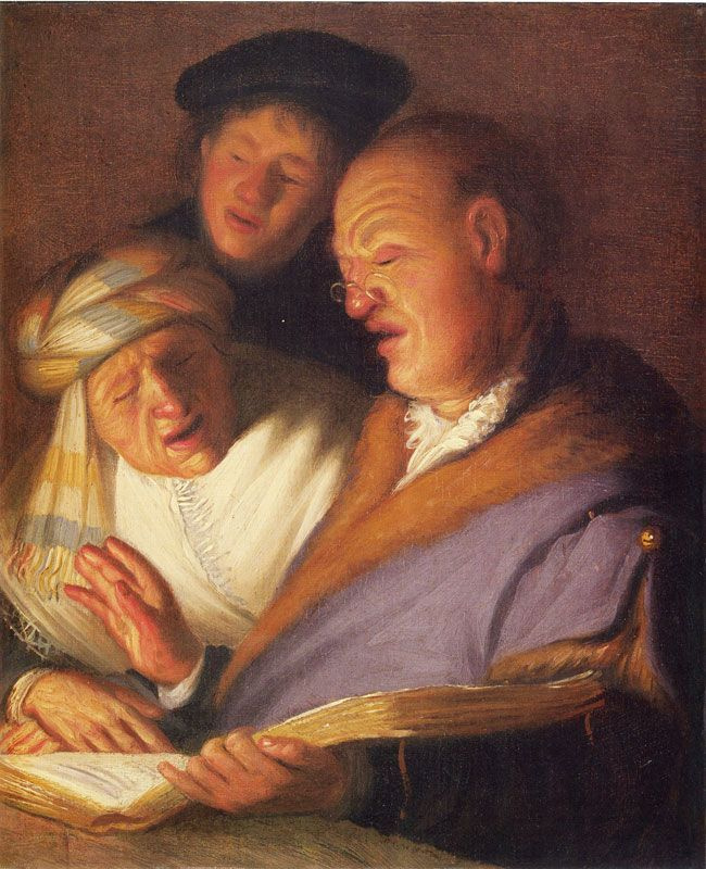 Рембрандт Харменс ван Рейн. Три певца (Слух)