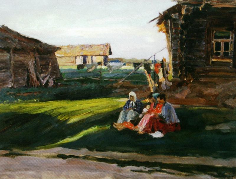 Sergey Arsenievich Vinogradov. Evening in the village
