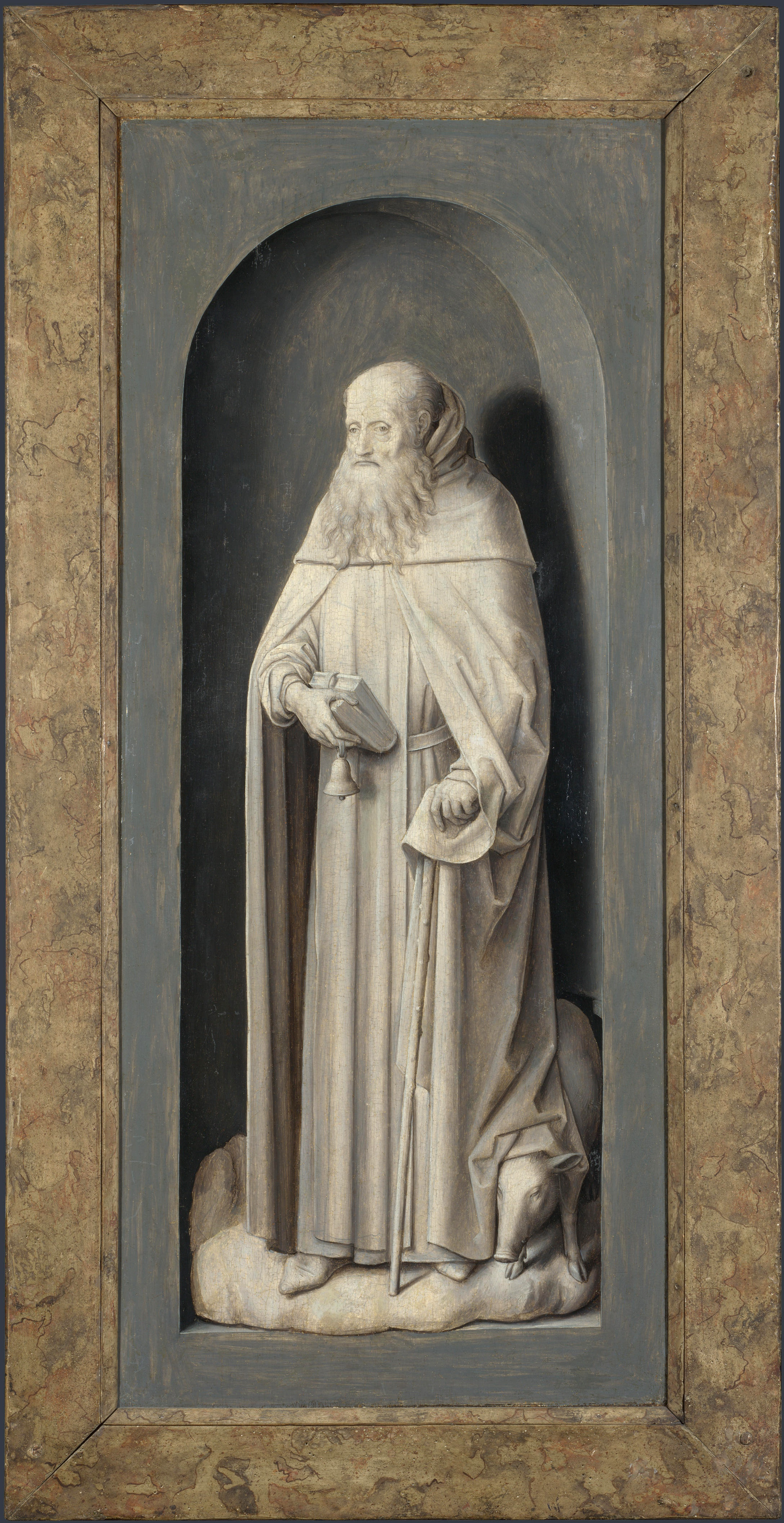 Hans Memling. Saint Anthony. Triptych Donna. The outer side of the right wing