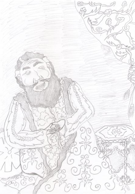 Procopius Merulla. Ottoman Vizier laugh