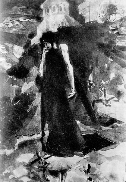 Михаил Александрович Врубель. Демон у монастыря