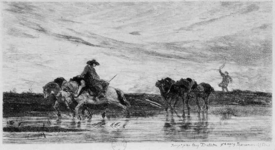 Шарль-Франсуа Добиньи. Ломовые лошади