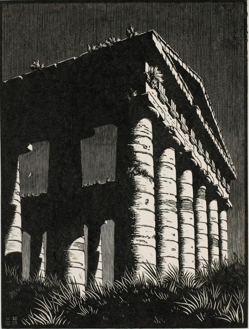 Maurits Cornelis Escher. Temple of Segeste, Sicily
