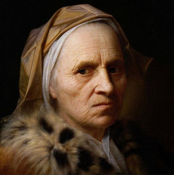Balthazar Denner. Head of an old woman (Portrait of woman)