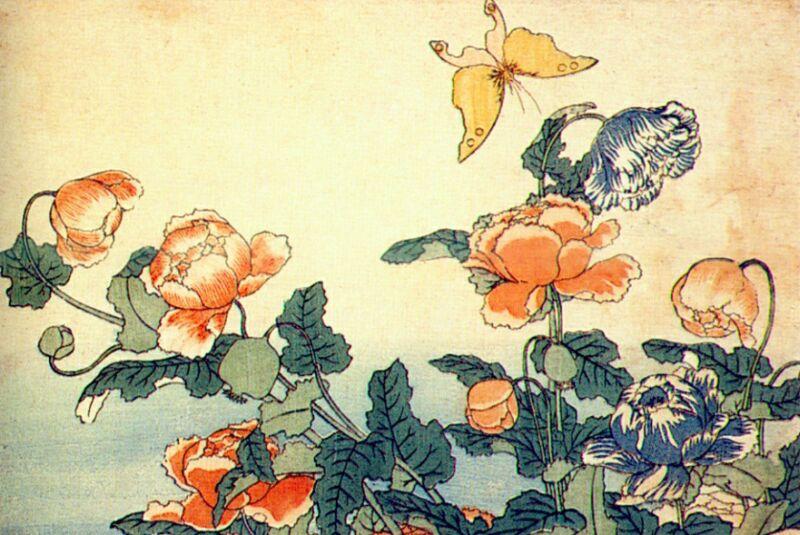 Кацусика Хокусай. Цветы