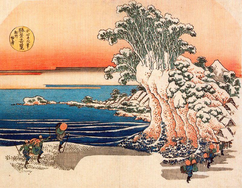 Кацусика Хокусай. Озеро Содегаура