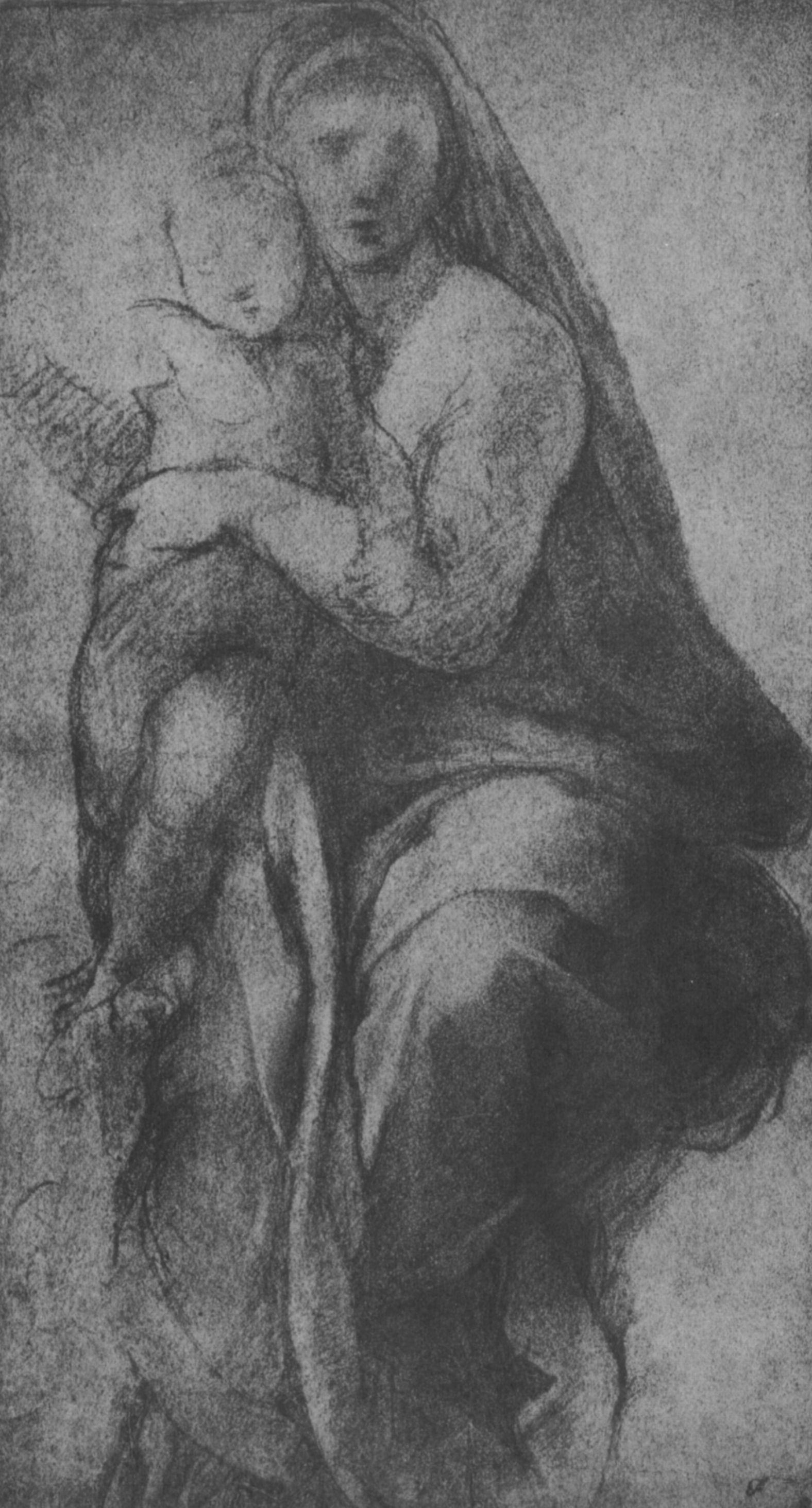 Raphael Sanzio. The Sistine Madonna. Sketch
