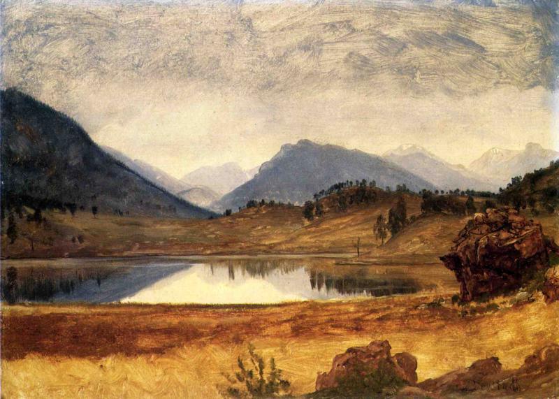 Альберт Бирштадт. Горный пейзаж с поворотом реки
