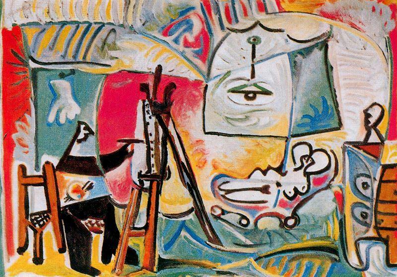 Пабло Пикассо. Художник и его модель в мастерской