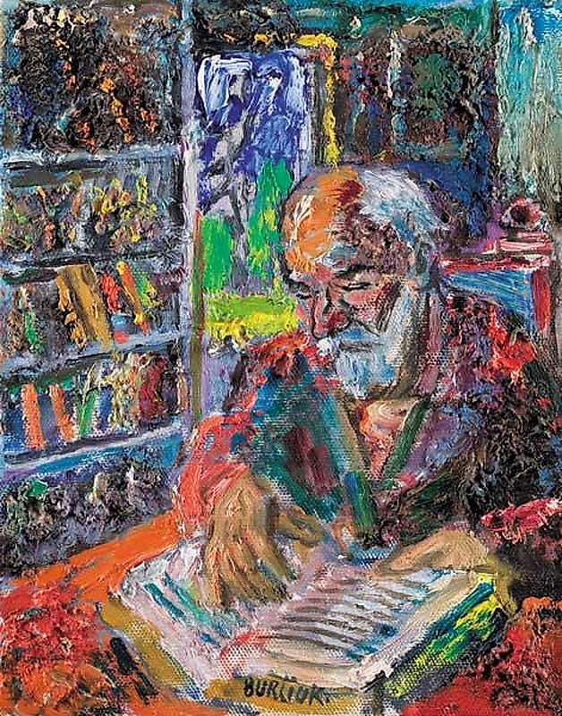 Давид Давидович Бурлюк. За чтением