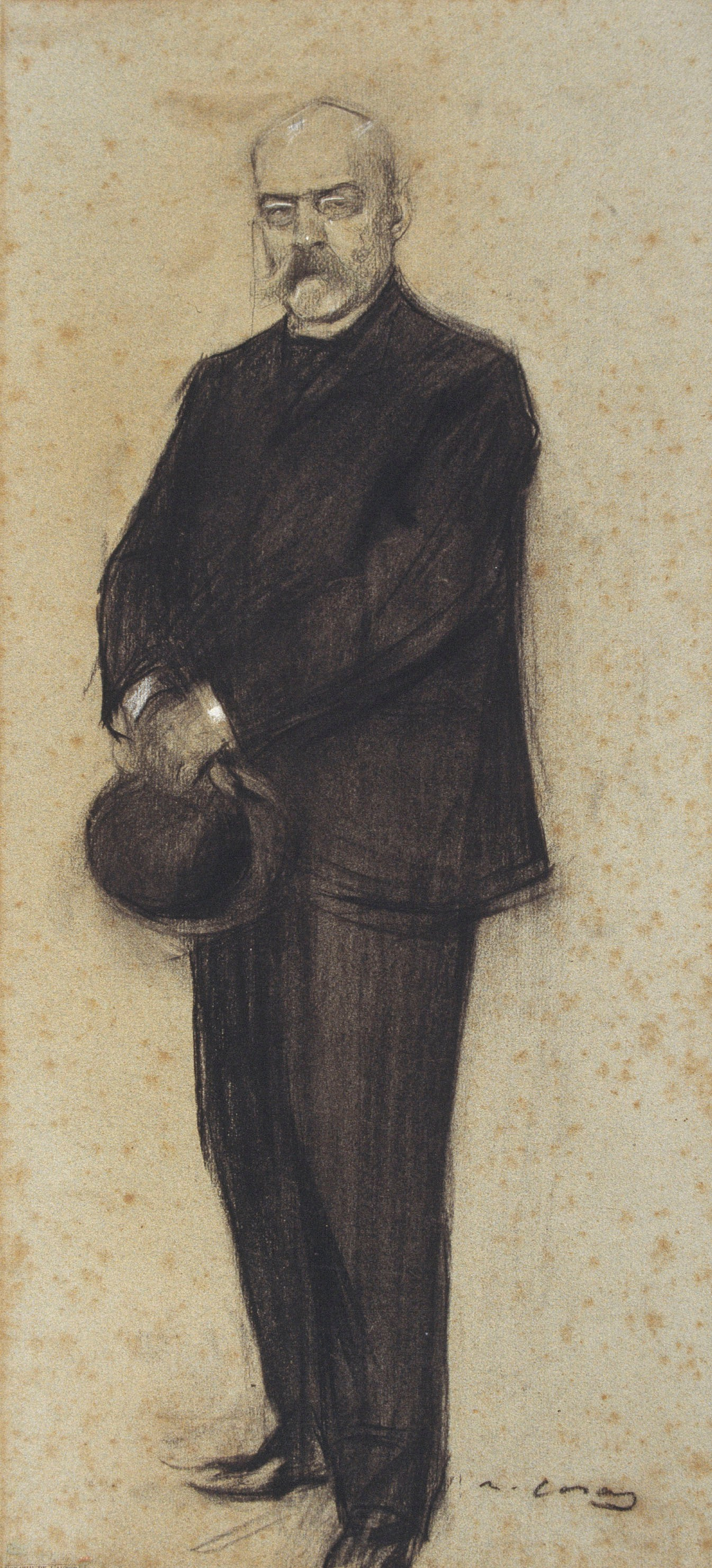 Ramon Casas i Carbó. Portrait of Theodore Baro