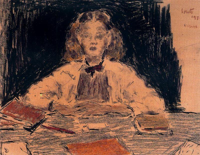 Артуро Соуто. Девушка за столом