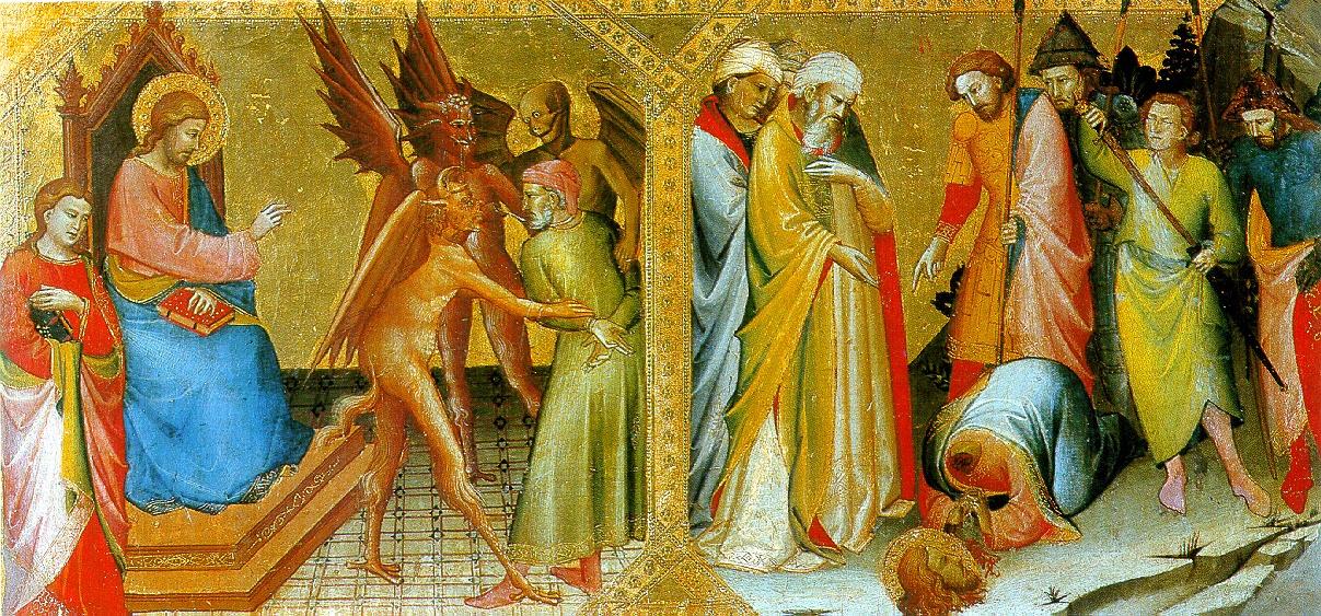 Лоренцо Монако. Встреча святых Иакова Старшего и Гермогена