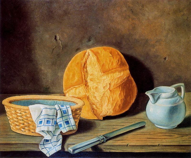 Анхель Планеллс. Натюрморт с хлебом