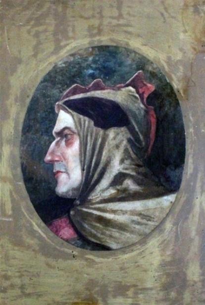 John Everett Millais. Portrait Of Dante Alighieri
