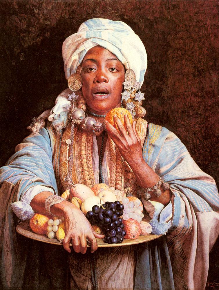 Джузеппе Синьорини. Продавщица фруктов