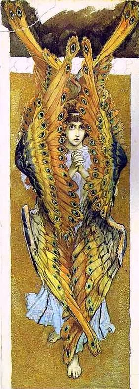 Виктор Михайлович Васнецов. Серафим со сложенными руками. Эскиз росписи Владимирского собора в Киеве