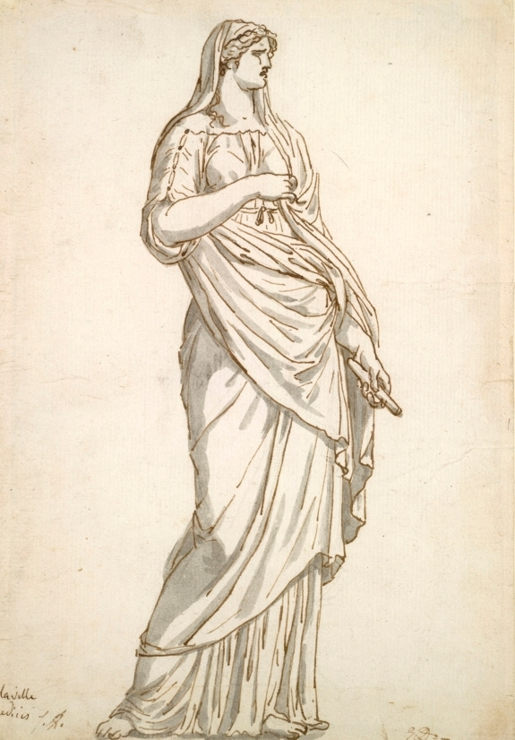 Jacques-Louis David. The sketch of the statue of Sabina for Villa Medici