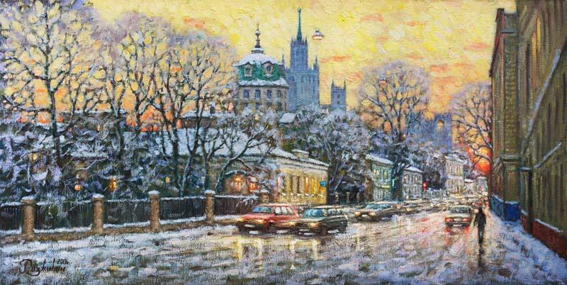 Igor Razzhivin. Colors of winter sunset