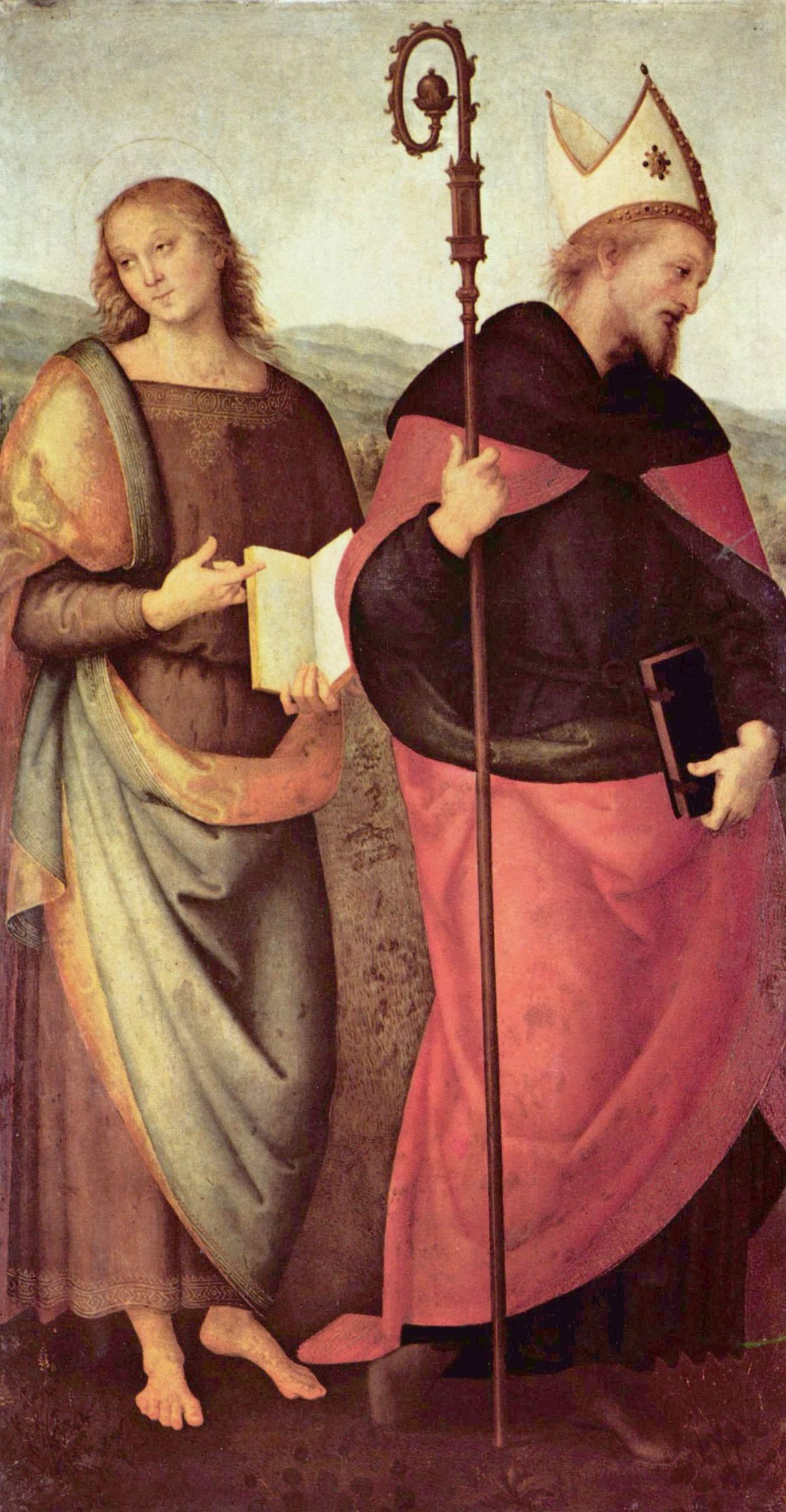Pietro Perugino. Altar of St. Augustine. John the Baptist and St. Augustine