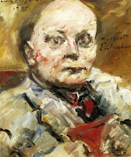Portrait of the poet Herbert Eulenberg