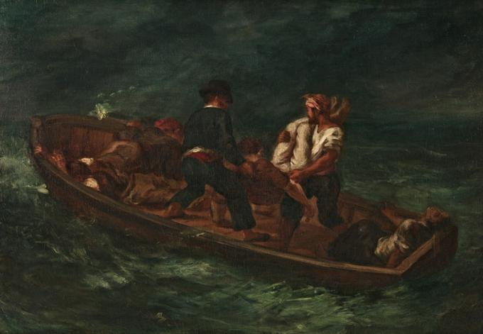 Eugene Delacroix. After the Shipwreck