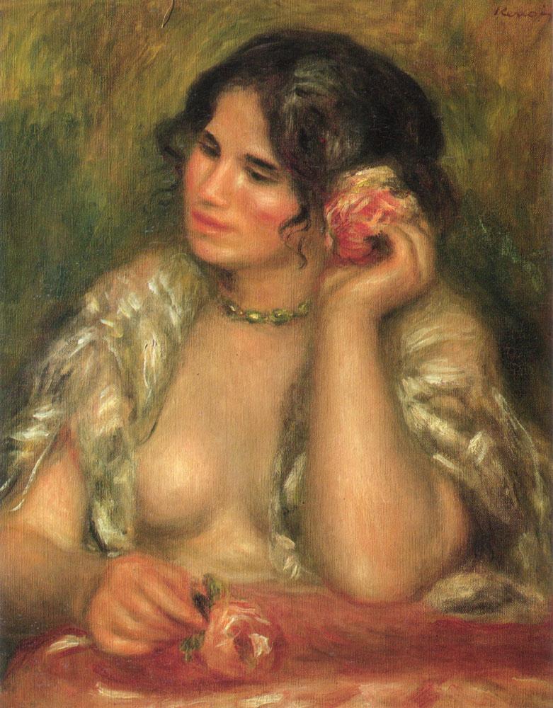 Pierre-Auguste Renoir. Gabrielle with a rose