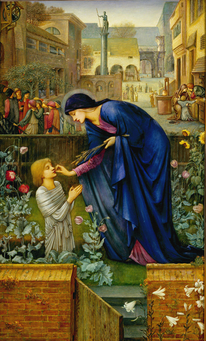 Edward Coley Burne-Jones. The Mother Superior's Tale (from the Canterbury Tales by Jeffrey Chaucer)
