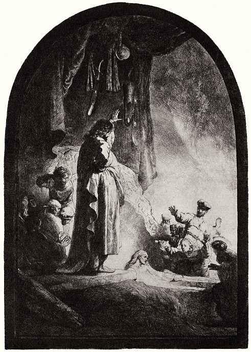 """Рембрандт Ван Рейн. Так называемое """"Большое воскрешение Лазаря"""""""