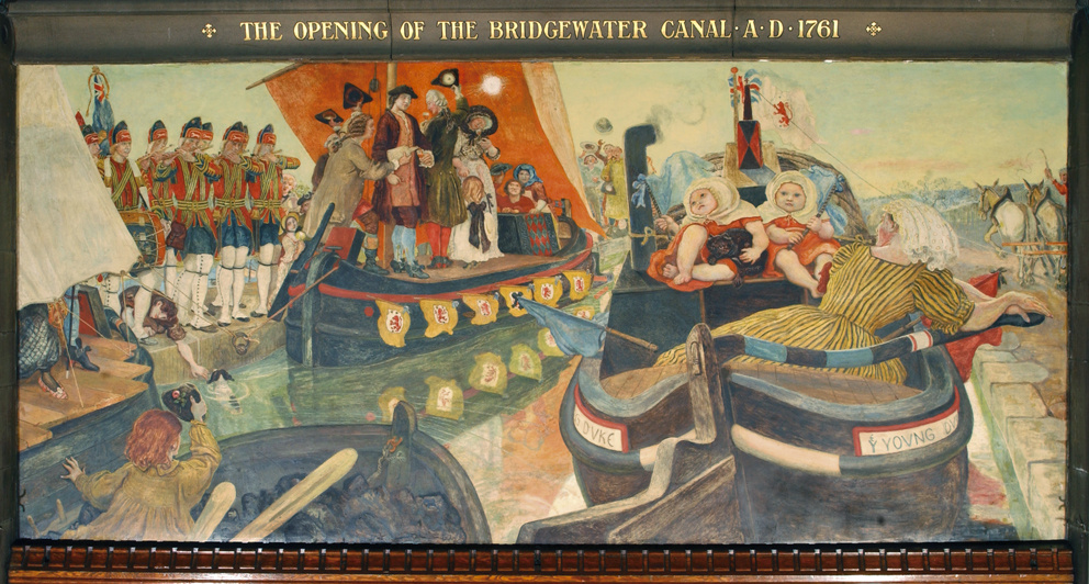 Форд Мэдокс Браун. Открытие канала Бриджуотер, 1761 год. Фреска мурала здания Манчестерской ратуши
