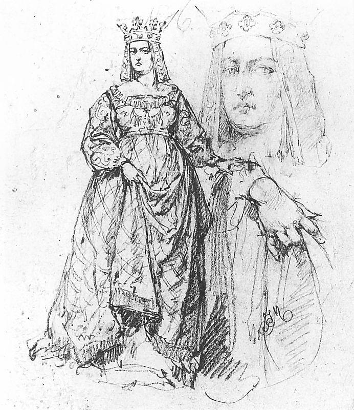 Ян Матейко. Елизавета, жена Владислава Ягеллонка