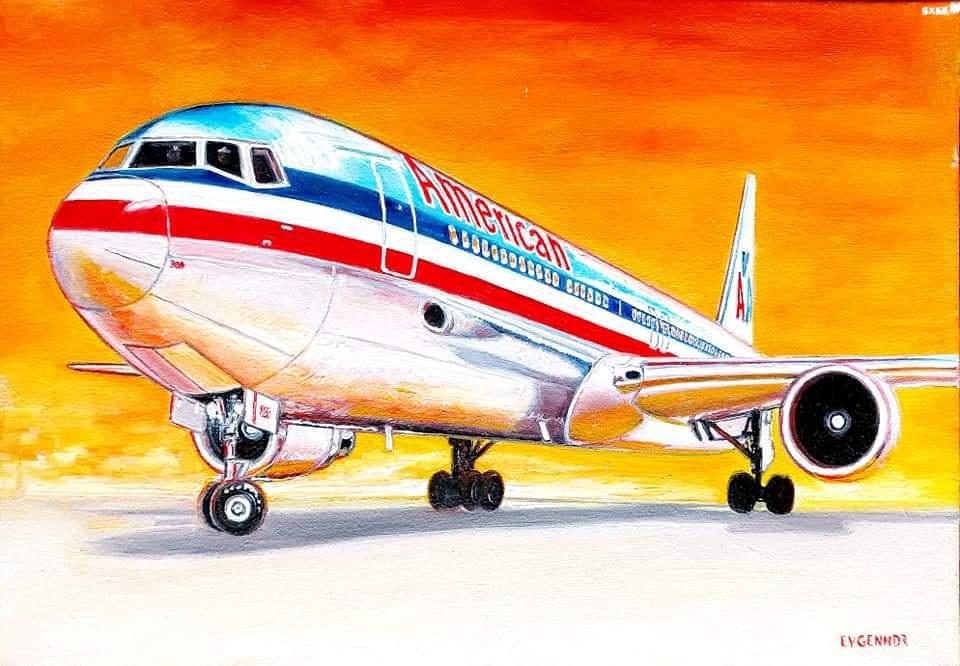 """Aviation Art. """"В благоприятный"""""""