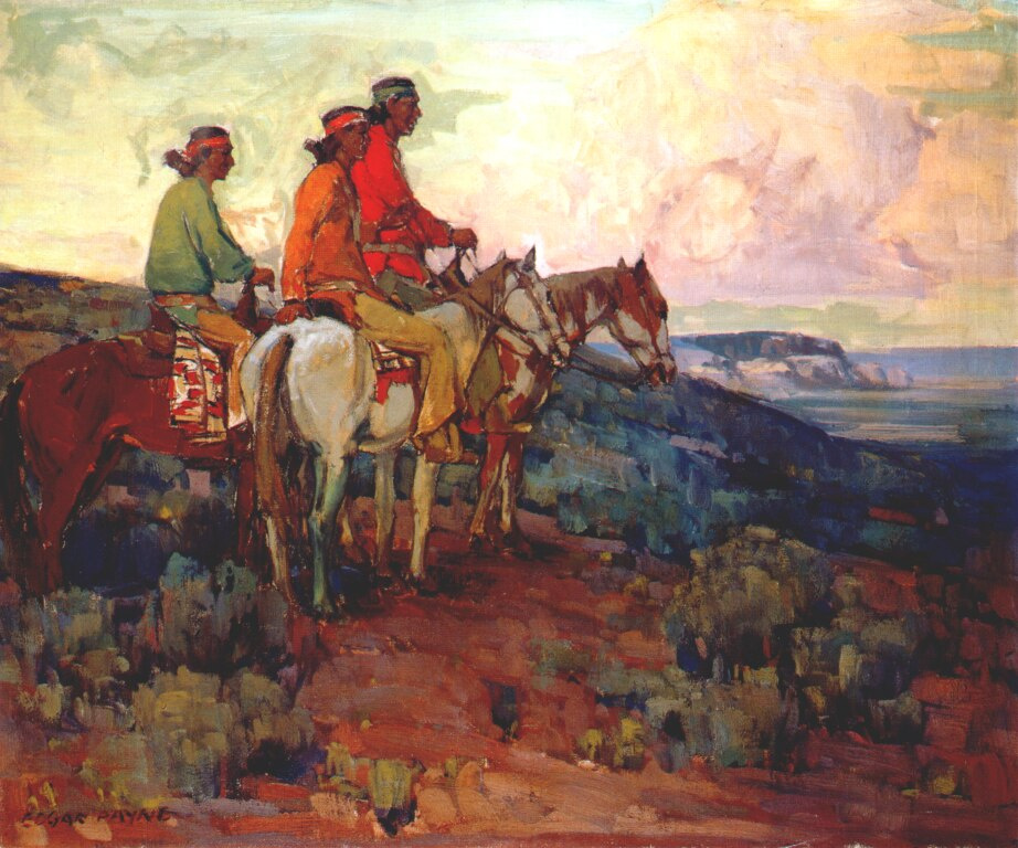 Эдгар Пейн. Навахо всадники