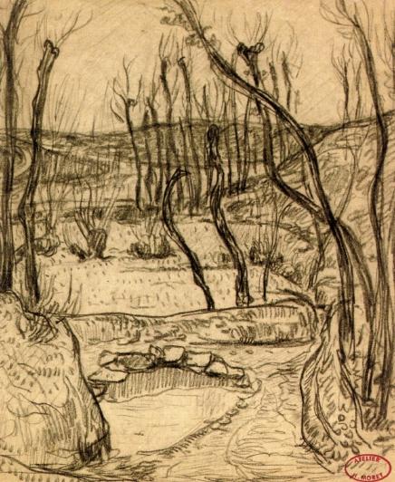 Henry Moret. Landscape near Quimper