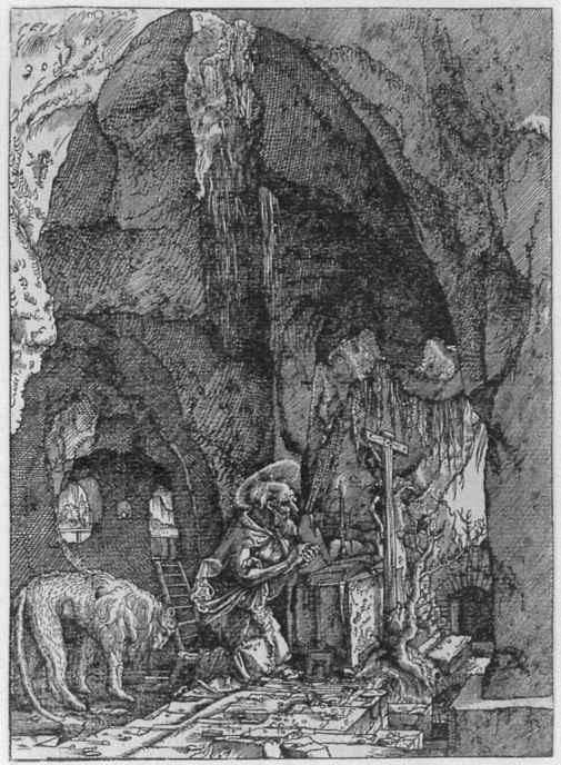 Альбрехт Альтдорфер. Святой Иероним в пещере