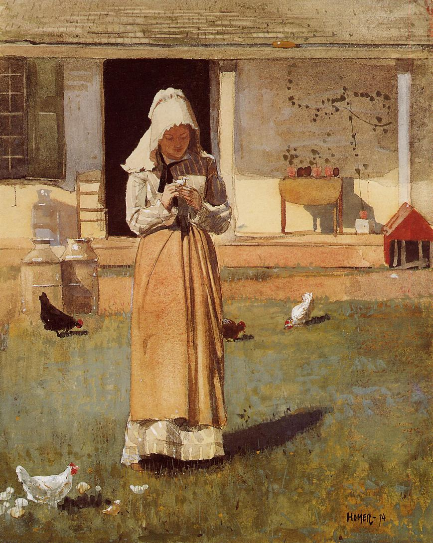 Winslow Homer. Sick chick