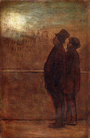 Honore Daumier. The Night Walkers