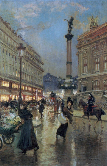 Жорж Штейн. Вид на оперный театр Парижа