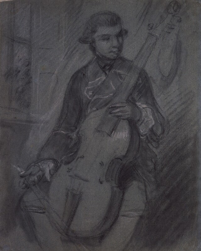 Thomas Gainsborough. Carl Friedrich Abel. Sketch