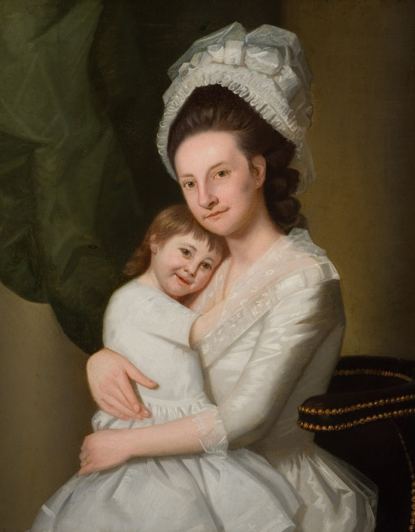 George Romney. Portrait of a woman with a child