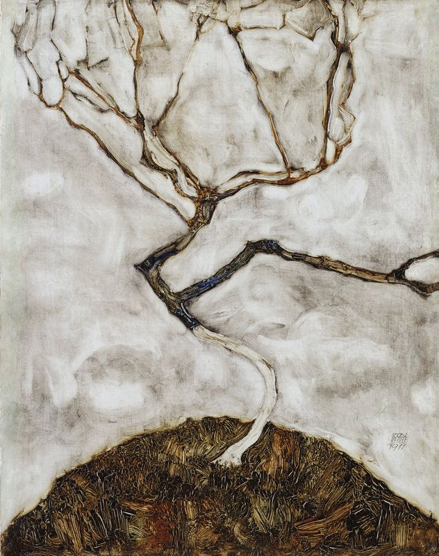 Egon Schiele. A tree in late autumn