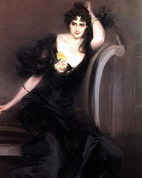 Джованни Больдини. Девушка в черном