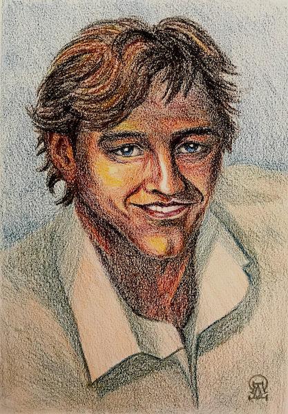 Larissa Lukaneva. Portrait of a man