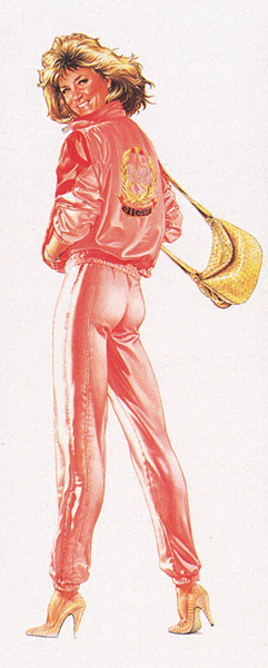 Альфонс Киффер. Дама в розовом костюме